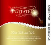 jewelry invitation card over... | Shutterstock .eps vector #152298509
