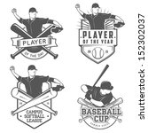 set of vintage baseball labels... | Shutterstock .eps vector #152302037