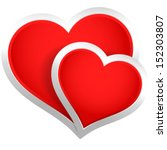 stylish hearts composition  | Shutterstock .eps vector #152303807
