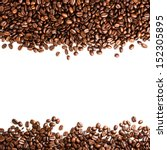 Coffee  Beans Isolated On Whit...