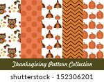 thanksgiving pattern collection.... | Shutterstock .eps vector #152306201