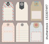 vintage style tags for design... | Shutterstock .eps vector #152307497