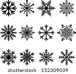 set of vectorized abstract... | Shutterstock .eps vector #152309039