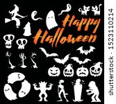 halloween session conceptual... | Shutterstock .eps vector #1523110214