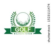 golf logo template. vector... | Shutterstock .eps vector #1523111474