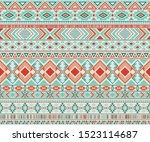navajo american indian pattern...   Shutterstock .eps vector #1523114687