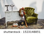 Halloween Outdoor Setting For...