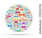 social network | Shutterstock .eps vector #152315765