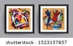 music abstract art. abstract... | Shutterstock .eps vector #1523157857
