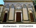 The facade of Church of Sant
