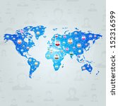 global communication network... | Shutterstock .eps vector #152316599