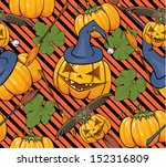 halloween seamless background | Shutterstock .eps vector #152316809