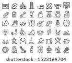outdoor fitness icons set.... | Shutterstock .eps vector #1523169704
