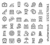 uv protection icons set.... | Shutterstock .eps vector #1523170361