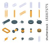 coil icons set. isometric set... | Shutterstock .eps vector #1523171771