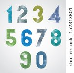 halftone print dots textured... | Shutterstock .eps vector #152318801
