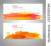 design banner with watercolor... | Shutterstock .eps vector #1523200184