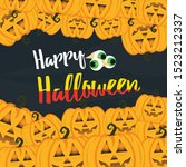 halloween card and background... | Shutterstock .eps vector #1523212337