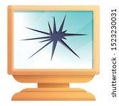 Broken Computer Monitor Icon....