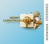merry christmas and new year... | Shutterstock .eps vector #1523233421