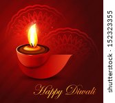 beautiful shiny happy diwali... | Shutterstock .eps vector #152323355