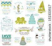 wedding vintage invitation... | Shutterstock .eps vector #152323517