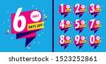 number days left countdown... | Shutterstock .eps vector #1523252861