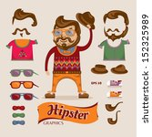 hipster handsome man with... | Shutterstock .eps vector #152325989