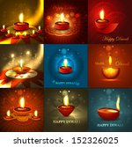 beautiful happy diwali 9... | Shutterstock .eps vector #152326025