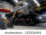 old industrial train in depot... | Shutterstock . vector #152326541