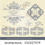 vintage caligraphic collection | Shutterstock .eps vector #152327579
