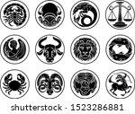 zodiac horoscope astrology star ... | Shutterstock .eps vector #1523286881