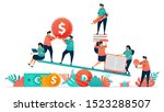 balance between finance and... | Shutterstock .eps vector #1523288507