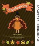 thanksgiving card design.... | Shutterstock .eps vector #152329709