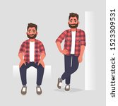 set of character man in two... | Shutterstock .eps vector #1523309531