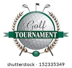 golf tournament clubs design is ... | Shutterstock .eps vector #152335349