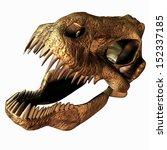 Illustration Of A T Rex Skull