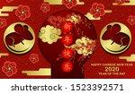 happy chinese new year 2020 rat ...   Shutterstock .eps vector #1523392571