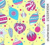 bright seamless background with ... | Shutterstock .eps vector #1523393504