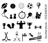 sports icon collection   vector ... | Shutterstock .eps vector #152340515