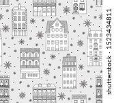 seamless pattern with hand... | Shutterstock .eps vector #1523434811