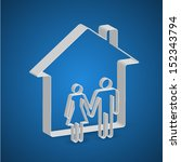 family house paper outline  ...   Shutterstock .eps vector #152343794