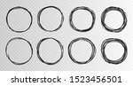 hand drawn grunge circles... | Shutterstock .eps vector #1523456501