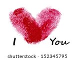 heart of fingerprints | Shutterstock . vector #152345795
