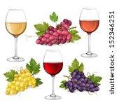 different varieties of grapes... | Shutterstock .eps vector #152346251