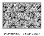 black and white decorative... | Shutterstock .eps vector #1523473514