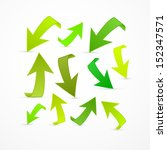 vector green arrows set... | Shutterstock .eps vector #152347571