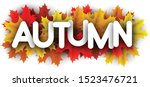 autumn paper letters over color ... | Shutterstock .eps vector #1523476721