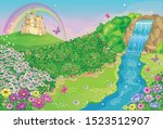 fairytale background with... | Shutterstock .eps vector #1523512907