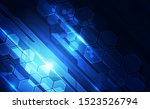 abstract futuristic digital... | Shutterstock .eps vector #1523526794